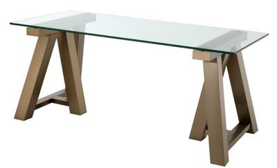 Casa Padrino Luxus Schreibtisch Messing 180 x 80 x H. 78 cm - Luxus Büromöbel – Bild