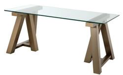 Casa Padrino luxury desk brass 180 x 80 x H. 78 cm - Luxury Office Furniture