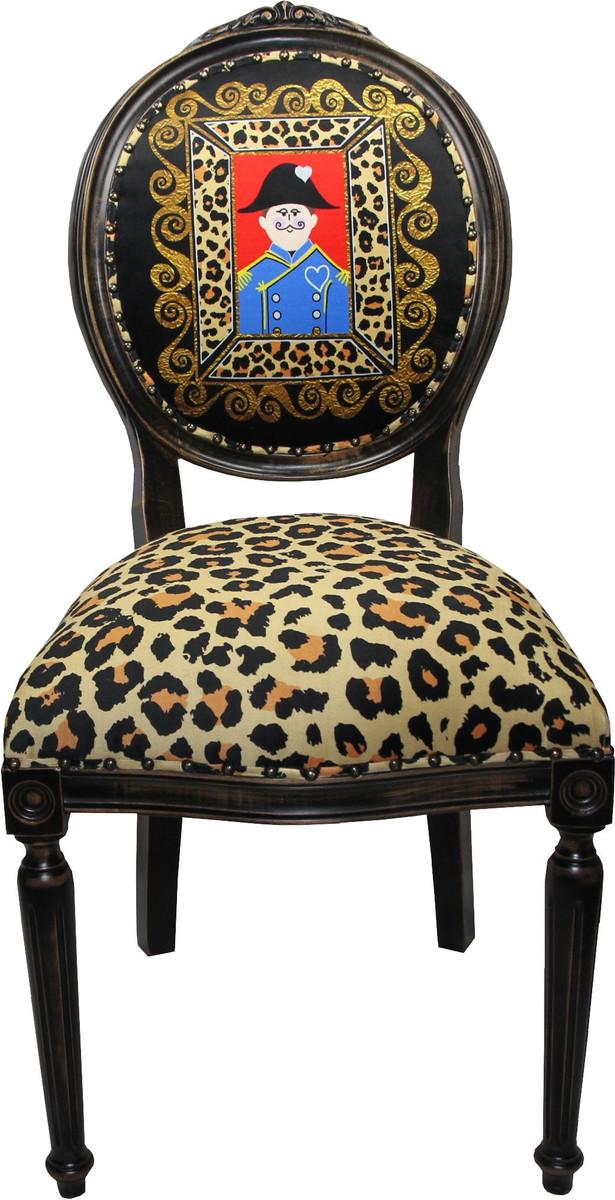 Casa Padrino Barock Luxus Esszimmer Stuhl Ohne Armlehnen Lord   Designer  Stuhl   Limited Edition