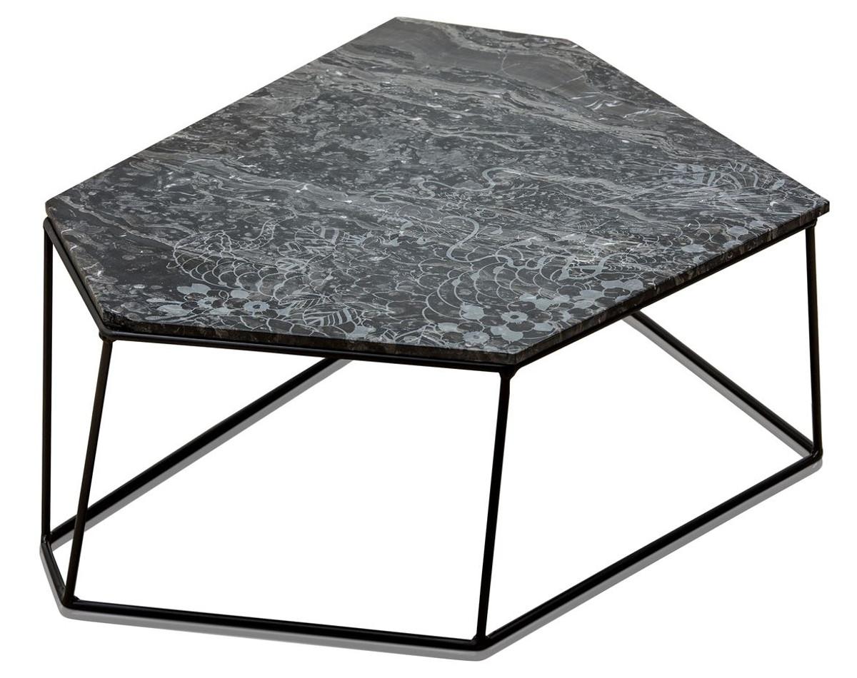 Designer Couchtisch Schwarz casa padrino designer couchtisch schwarz mit muster schwarz 89 x 54 x h 30 cm luxus
