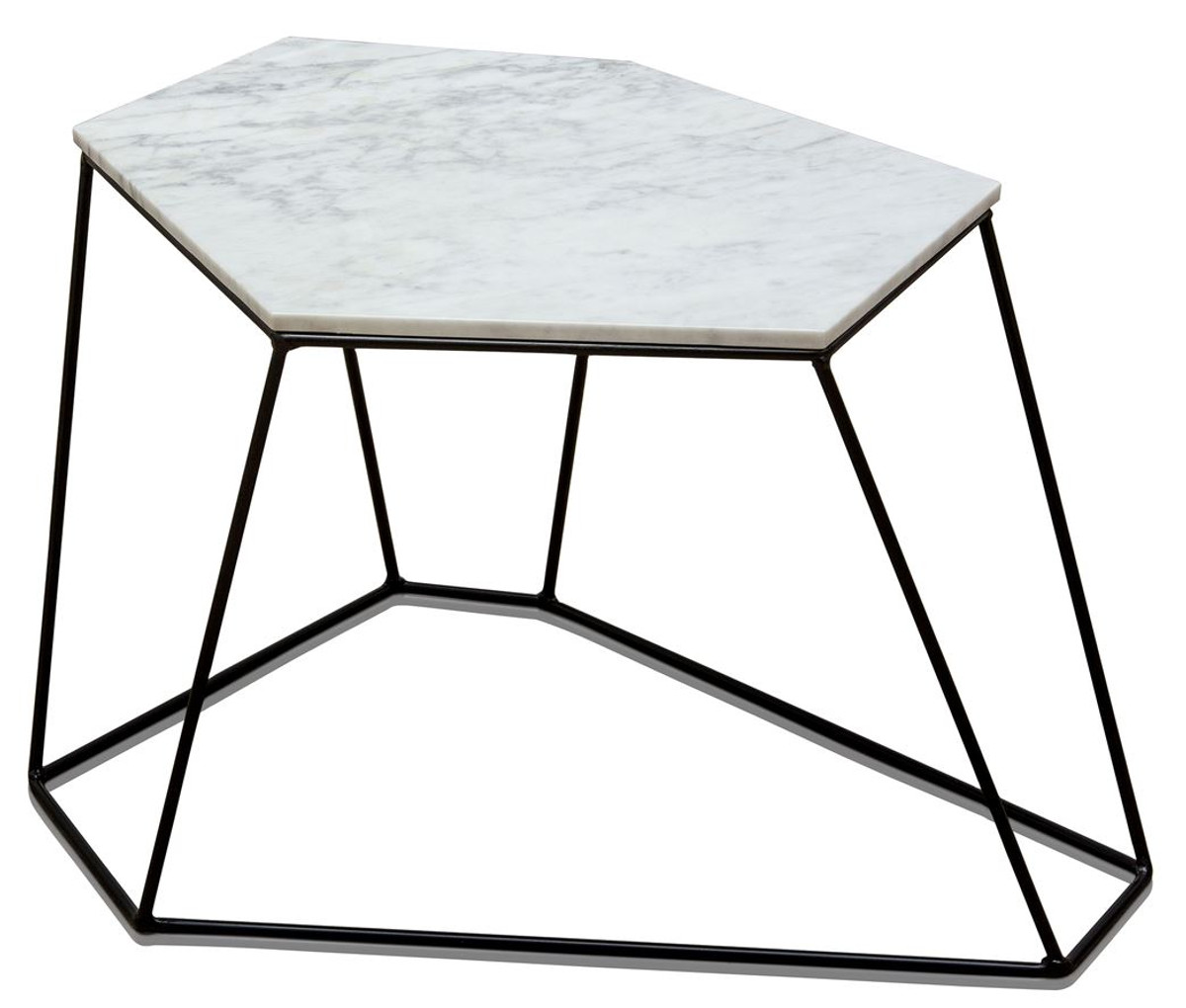 - Casa Padrino Designer Coffee Table White With Pattern / Black 64 X