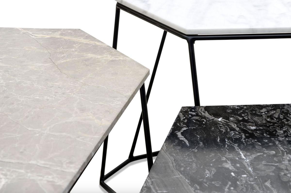 casa padrino designer couchtisch set wei grau schwarz luxus wohnzimmerm bel couchtische. Black Bedroom Furniture Sets. Home Design Ideas