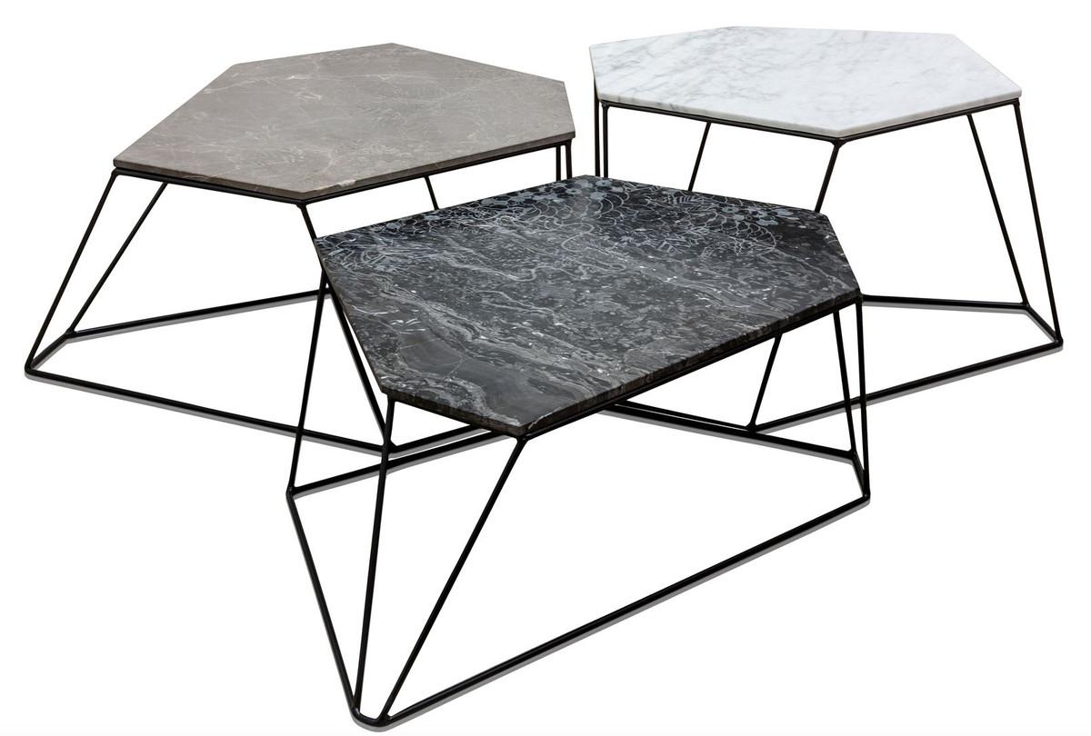 casa padrino designer couchtisch set wei grau schwarz. Black Bedroom Furniture Sets. Home Design Ideas