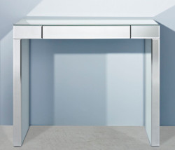Casa Padrino luxury mirror glass console with drawer 100 x 30 x H. 83 cm - Luxury Furniture & Accessories