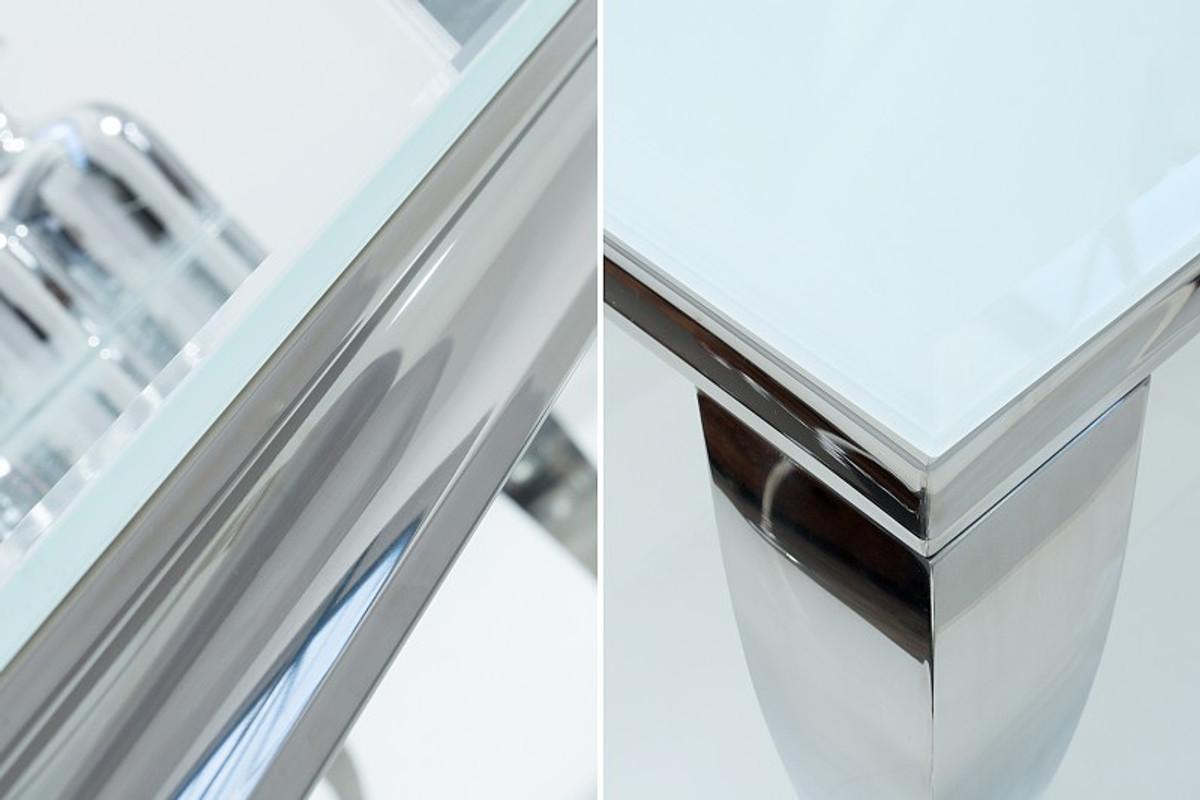 Casa padrino designer esstisch 180 cm weiss silber for Esstisch modern weiss