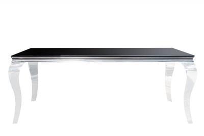 Casa Padrino Luxury Dining Set Black / Silver - Dining Table 180 cm + 4 Chairs - Luxury Quality - Modern Baroque – Bild 7