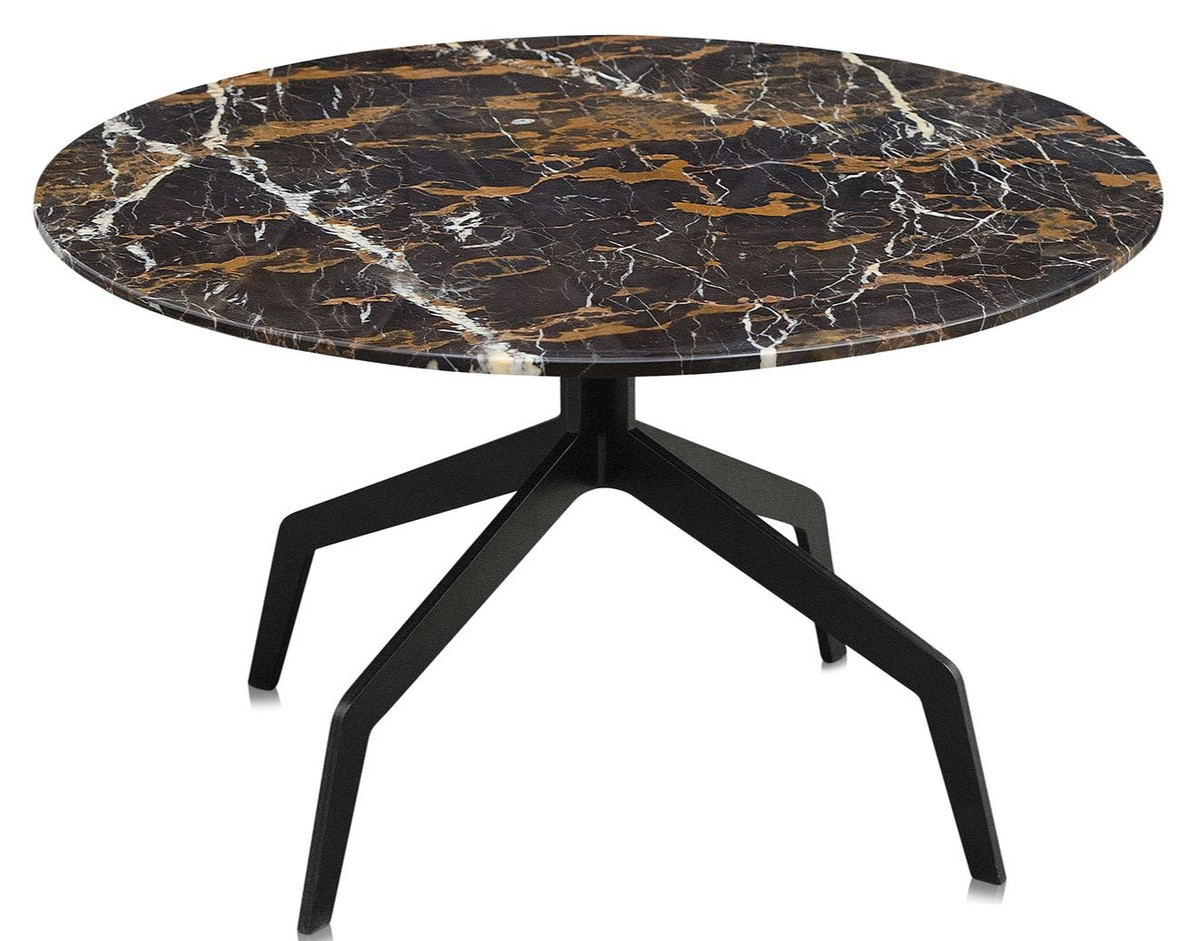 Casa padrino luxury coffee table black 70 x h 40 cm for Coffee table 70 x 70