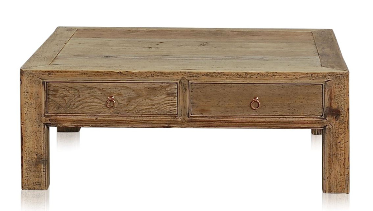 - Casa Padrino Luxury Coffee Table With 4 Drawers Natural Colors 100