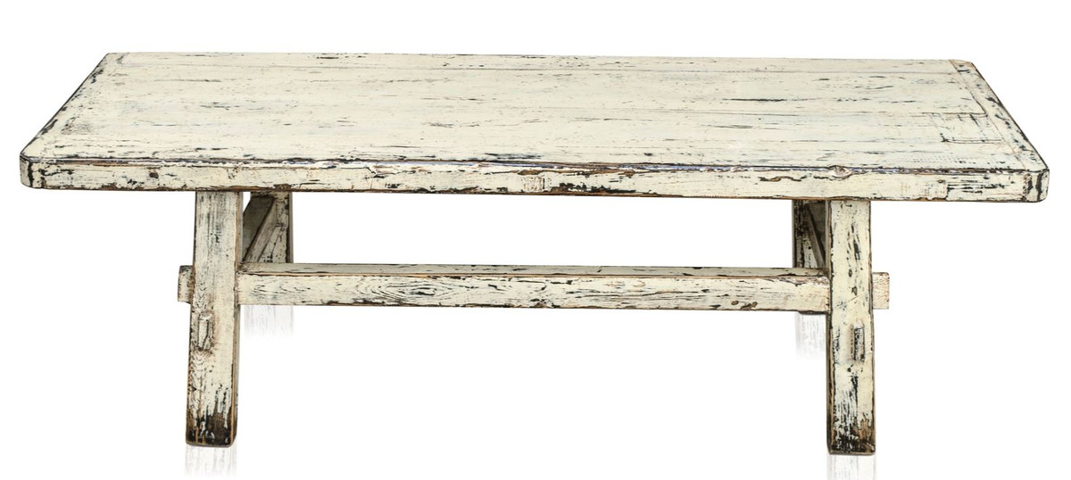 Casa Padrino Country Style Coffee Table Antique White 140 X 54 H 43