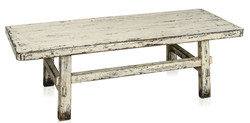 Casa Padrino country style coffee table antique style white 140 x 54 x H. 43 cm - Country Style Living Room Furniture