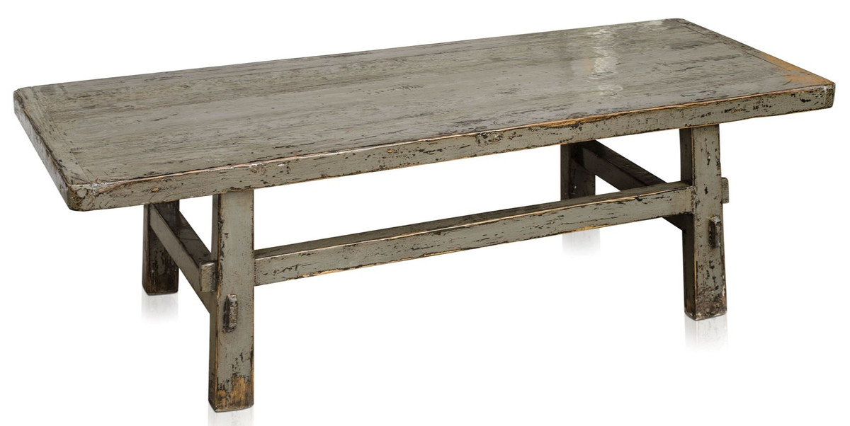 Casa Padrino Country Style Coffee Table Antique Gray 140 X 54 H 43 Cm Living Room Furniture