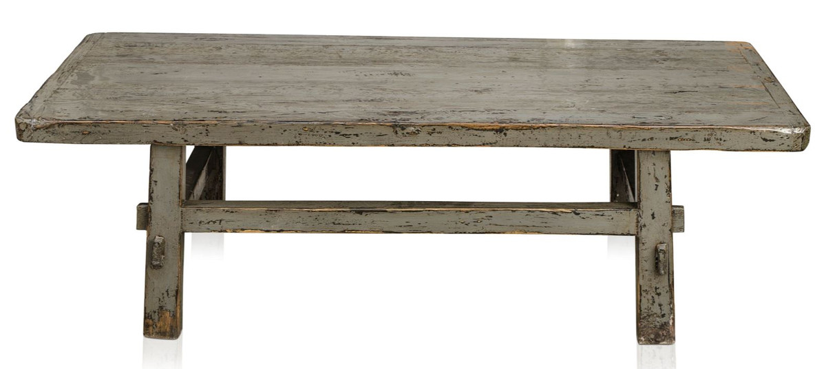 Casa Padrino Country Style Coffee Table Antique Gray 140 X 54 H 43