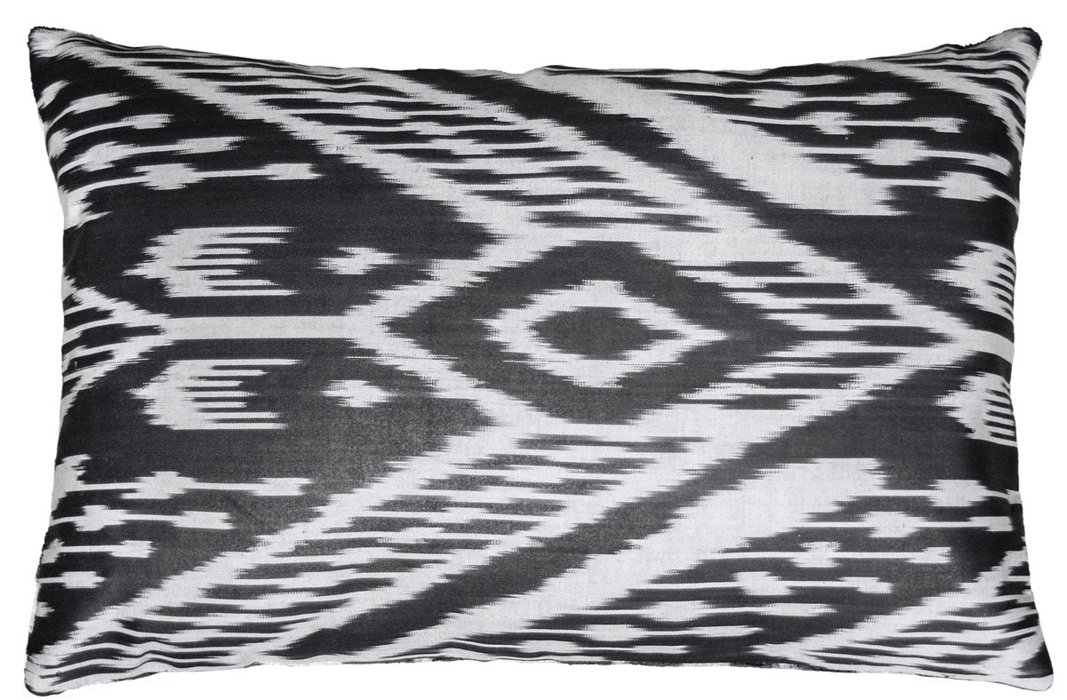 casa padrino luxus kissen schwarz wei 60 x 40 cm wohnzimmer deko accessoires heimtextilien. Black Bedroom Furniture Sets. Home Design Ideas