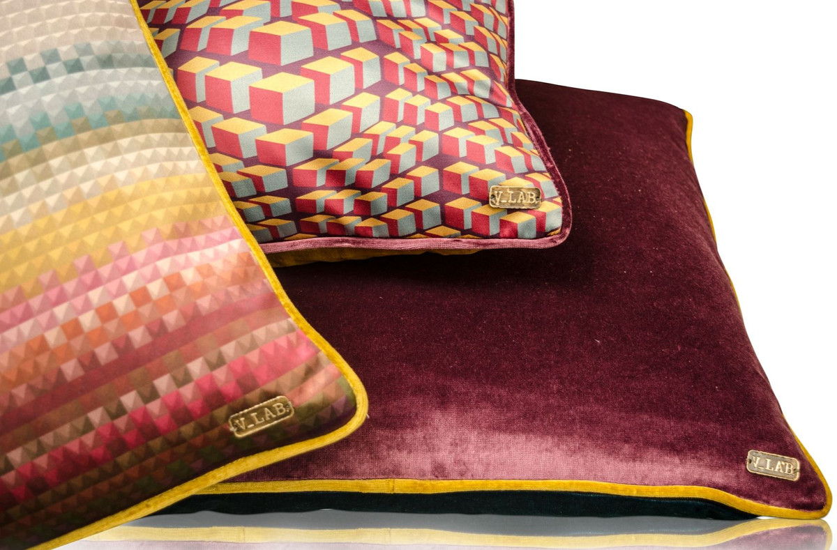 Casa padrino wohnzimmer deko kissen 3er set mehrfarbig for Kissen wohnzimmer deko