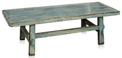 Casa Padrino country style coffee table antique style blue 140 x 54 x H. 43 cm - Country Style Living Room Furniture