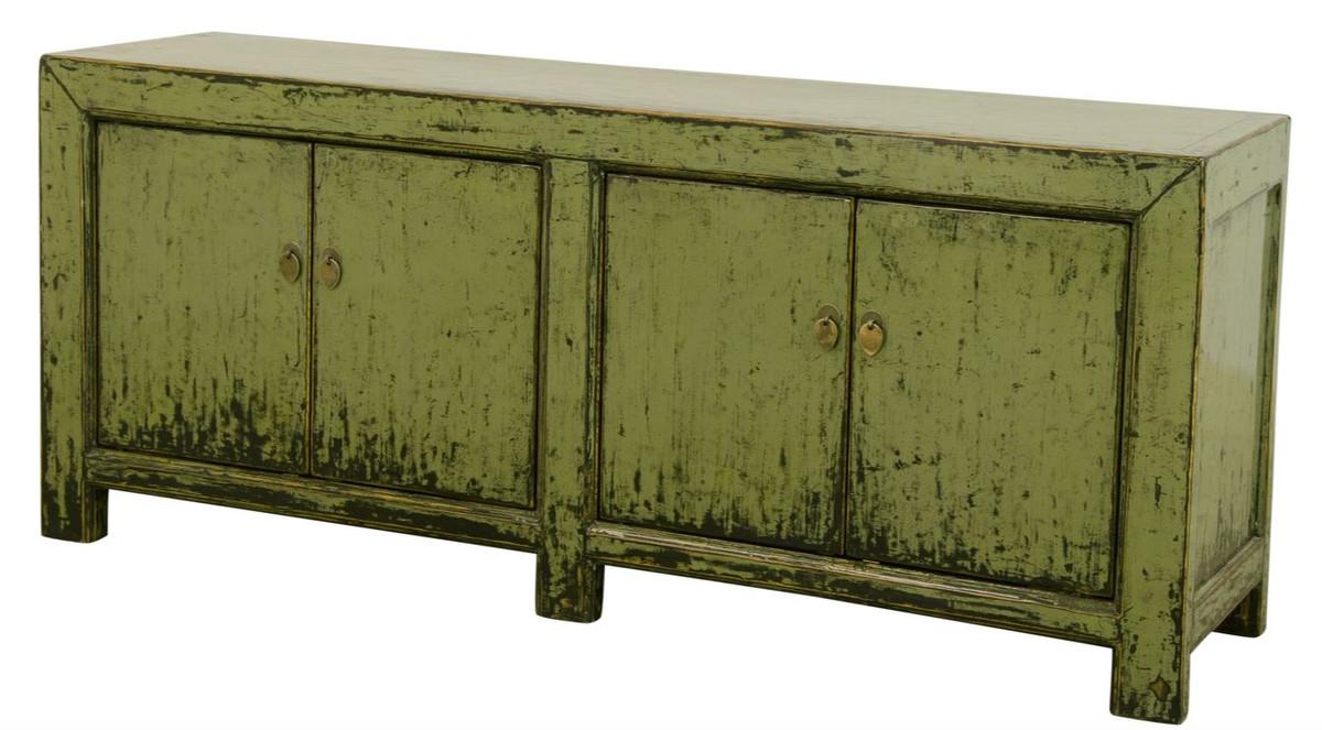 Casa Padrino Landhausstil Sideboard / Schrank Antik Stil Grün 10 x 10 x H.  10 cm - Landhausstil Kollektion