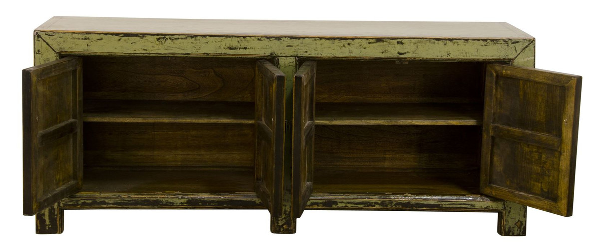 casa padrino landhausstil sideboard schrank antik stil gr n 160 x 40 x h 67 cm landhausstil. Black Bedroom Furniture Sets. Home Design Ideas