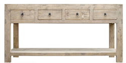 Casa Padrino country style console table with 4 drawers natural colors 170 x 45 x H. 85 cm - Country Style Console
