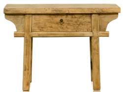 Casa Padrino country style console with drawer in natural pine wood 110 x 42 x H. 80 cm - Furniture in Country Style