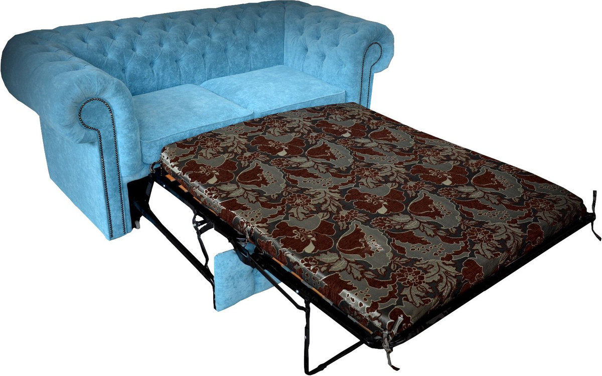 casa padrino chesterfield 2er sofa in hell blau 180 x 100. Black Bedroom Furniture Sets. Home Design Ideas