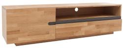 Casa Padrino  Luxus Eiche Fernsehschrank Natur B.170 x H.46 x T.42 - Sideboard - Kommode - Handgefertigt Massivholz!