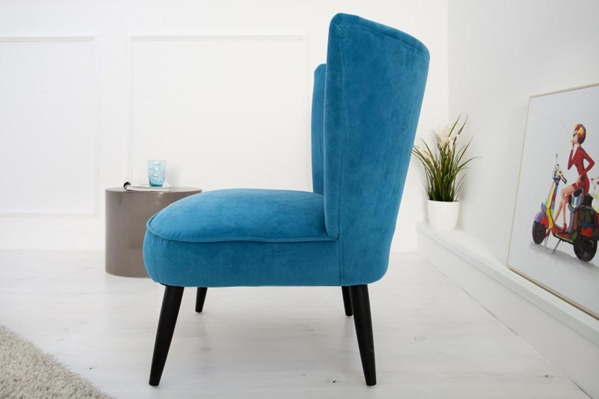 casa padrino 60er jahre retro salon sessel petrol cocktailsessel jahre 1960 s sixties sessel. Black Bedroom Furniture Sets. Home Design Ideas