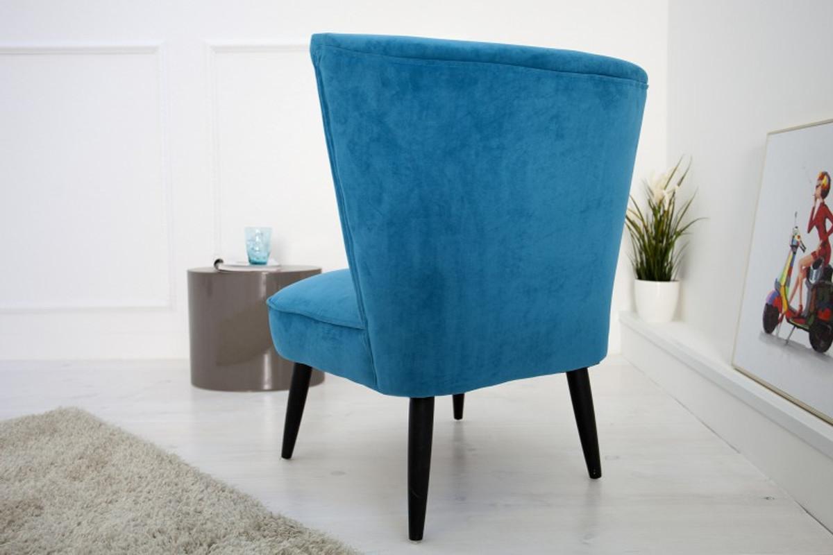 Casa Padrino 60s Retro Lounge Chair Petrol Cocktailsessel 1960 S