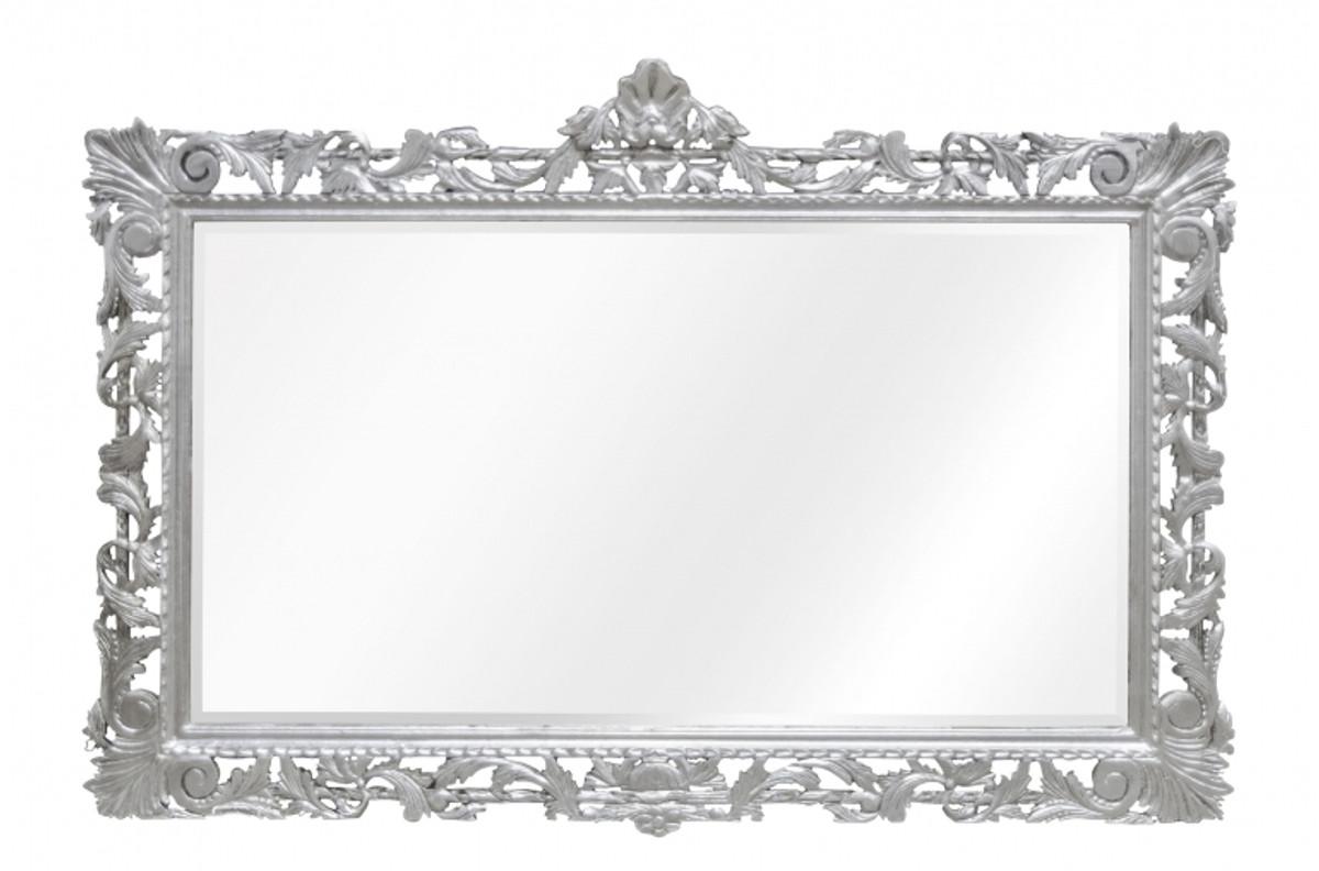 casa padrino barock spiegel silber handgefertigt 193 x 110. Black Bedroom Furniture Sets. Home Design Ideas