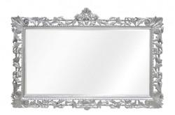Casa Padrino Baroque Mirror Silver Handmade 193 x 110 cm - Wooden Mirror - Baroque Furniture