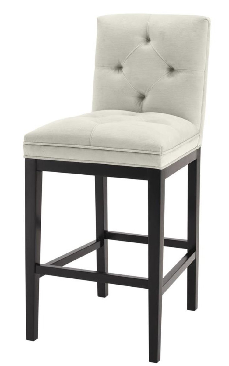 Casa Padrino Luxury Bar Chair Light Gray Black 51 X 63 X