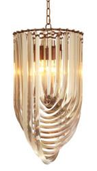 Casa Padrino luxury chandelier champagne / antique brass Ø 35 x H. 65 cm - Luxury Collection