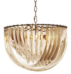 Casa Padrino luxury chandelier champagne / antique brass Ø 50 x H. 33 cm - Luxury Collection