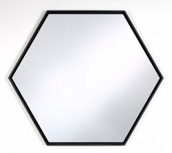 Casa Padrino luxury mirror with black wood frame 52 x H. 45 cm - Living Room Wall Mirror