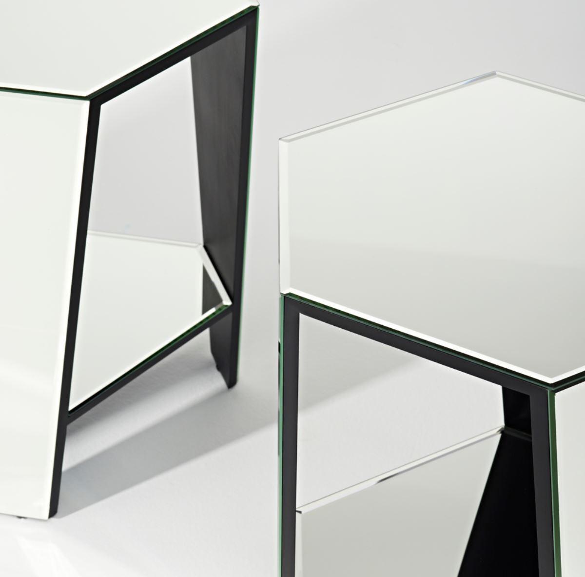 casa padrino luxus spiegelglas beistelltisch 45 x 40 x h 56 cm designerm bel beistelltische. Black Bedroom Furniture Sets. Home Design Ideas