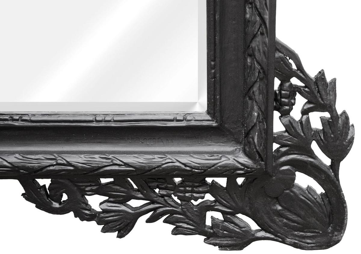 casa padrino barock wandspiegel schwarz 190 x h 155 cm wohnzimmer spiegel im barockstil. Black Bedroom Furniture Sets. Home Design Ideas