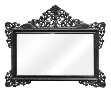 Casa padrino barock wandspiegel schwarz 190 x h 155 cm wohnzimmer spiegel im barockstil - Barock spiegel schwarz ...
