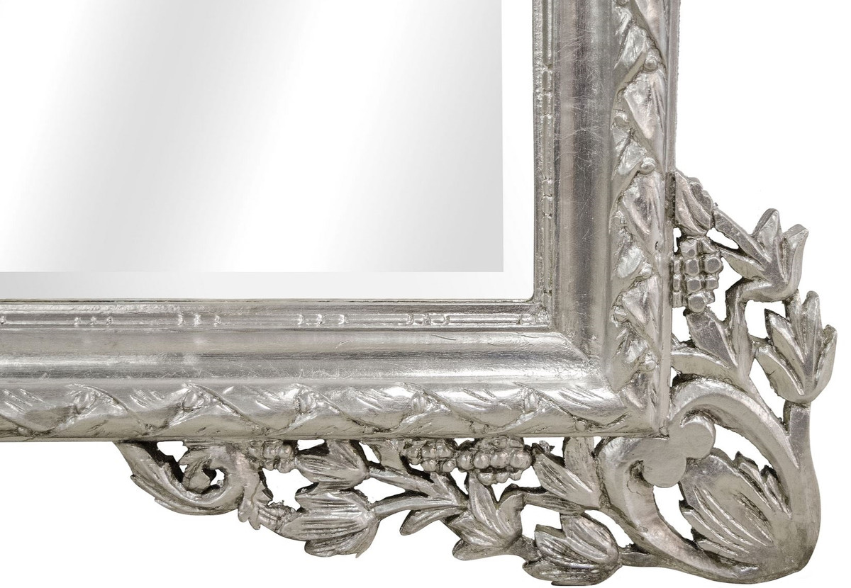 casa padrino barock wandspiegel silber 190 x h 155 cm wohnzimmer spiegel im barockstil. Black Bedroom Furniture Sets. Home Design Ideas
