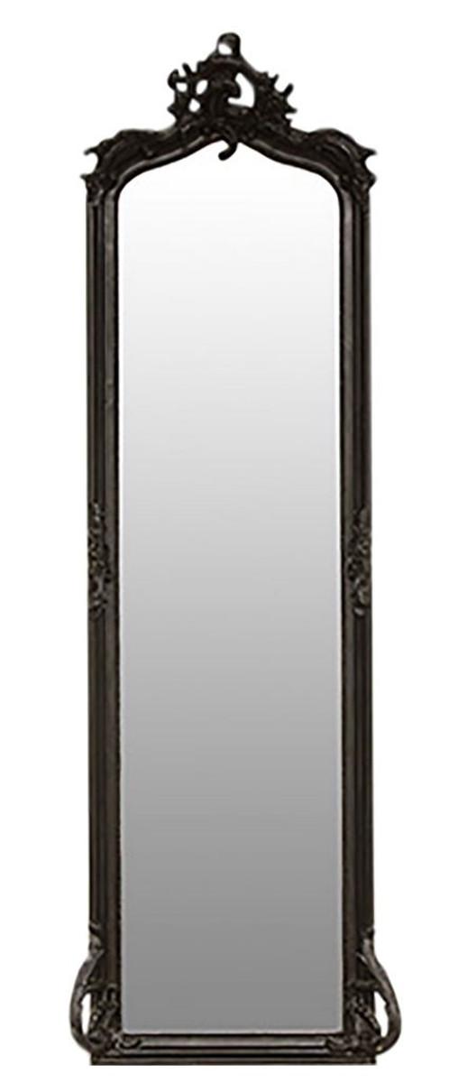casa padrino barock wandspiegel schwarz 54 x h 172 cm wohnzimmer spiegel im barockstil. Black Bedroom Furniture Sets. Home Design Ideas