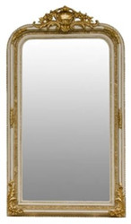 Casa Padrino baroque mirror cream / gold 86 x H. 155 cm - Living Room Furniture in Baroque Style