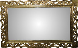 Casa Padrino Baroque Mirror Gold Handmade 160 x 100 cm - Wooden Mirror - Baroque Furniture