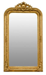 Casa Padrino baroque mirror gold 86 x H. 155 cm - Living Room Furniture in Baroque Style
