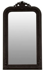 Casa Padrino baroque mirror black 86 x H. 155 cm - Living Room Furniture in Baroque Style