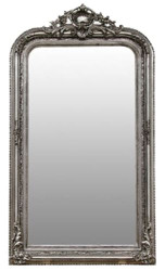 Casa Padrino baroque mirror silver 86 x H. 155 cm - Living Room Furniture in Baroque Style