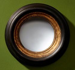 Casa Padrino luxury convex mirror black / gold Ø 25 cm - Designer Furniture & Accessories