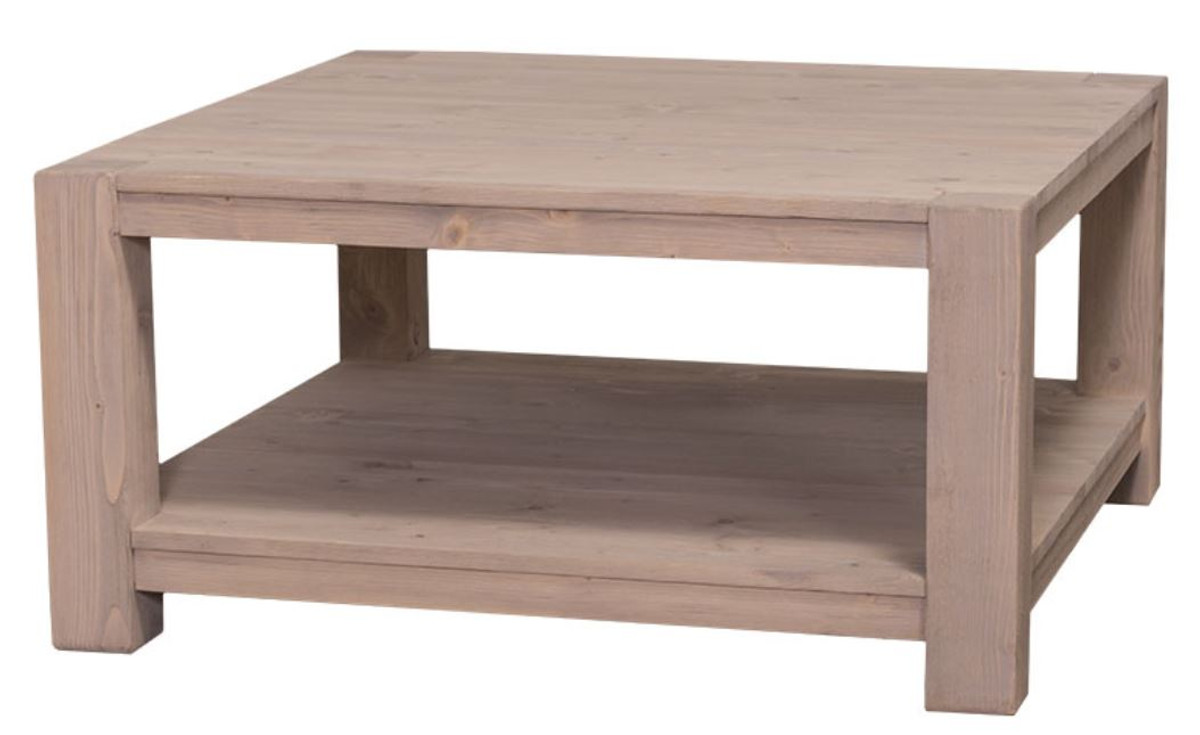 - Casa Padrino Country Style Coffee Table Natural Colors 90 X 90 X H