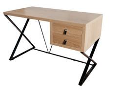 Casa Padrino Schreibtisch Eiche 120cm mit 2 Schubladen - Designer Kollektion