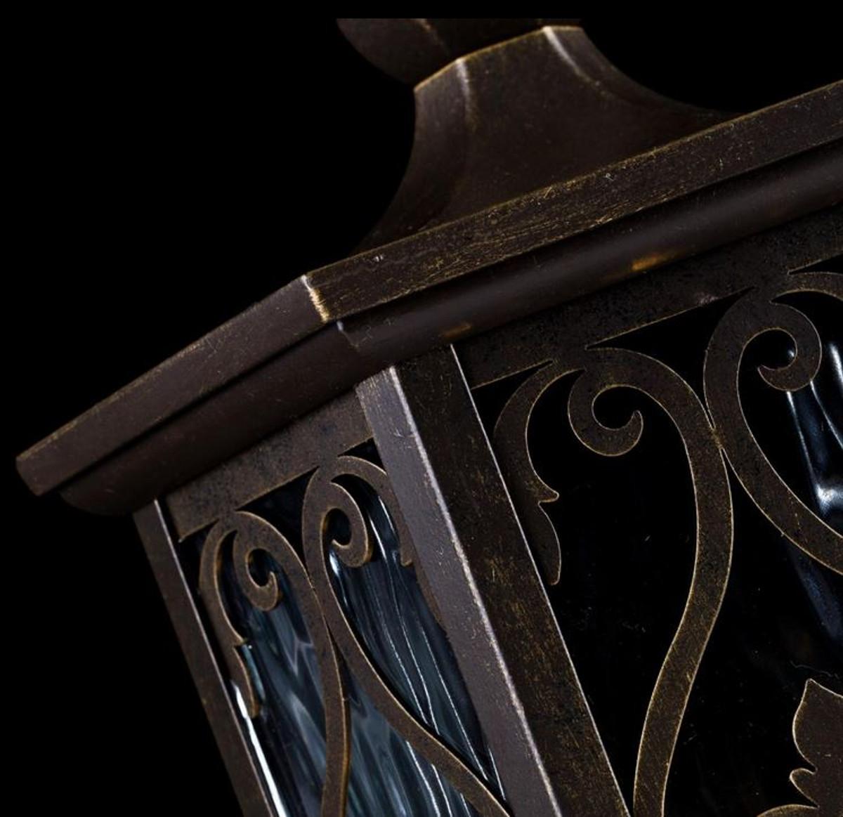 Casa Padrino Barockstil Außen Pollerleuchte Bronze Ø 182 x H. 47,7 cm - Sockelleuchte im Barockstil 6