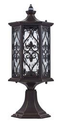 Casa Padrino baroque style outdoor bollard light bronze Ø 182 x H. 47,7 cm - Baroque Style Pedestal Lamp