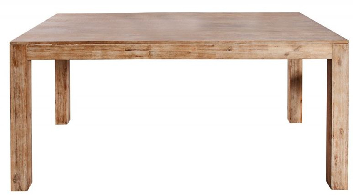 Casa Padrino Solid Wood Dining Table Teak Gray Acacia Extendable