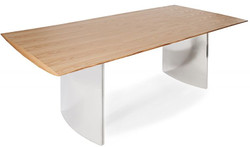 Casa Padrino Real Wood Dining Table Natural - Oak - 200 x 100 x H.76 cm - Heavy duty